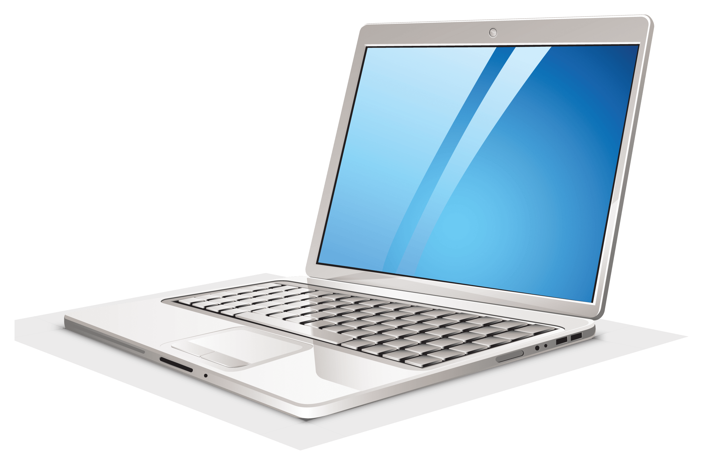 laptop The definition of a laptop is a portable computer that encompasses a microprocessor, rechargeable battery, fold-down screen, keyboard and mouse.